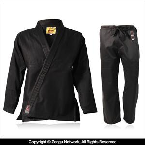 Single Weave Black BJJ Gi